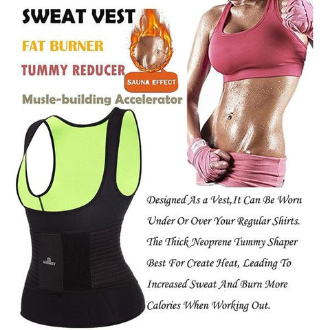 Neoprene Sauna Vest With Waist Belt | Hourglass Gal