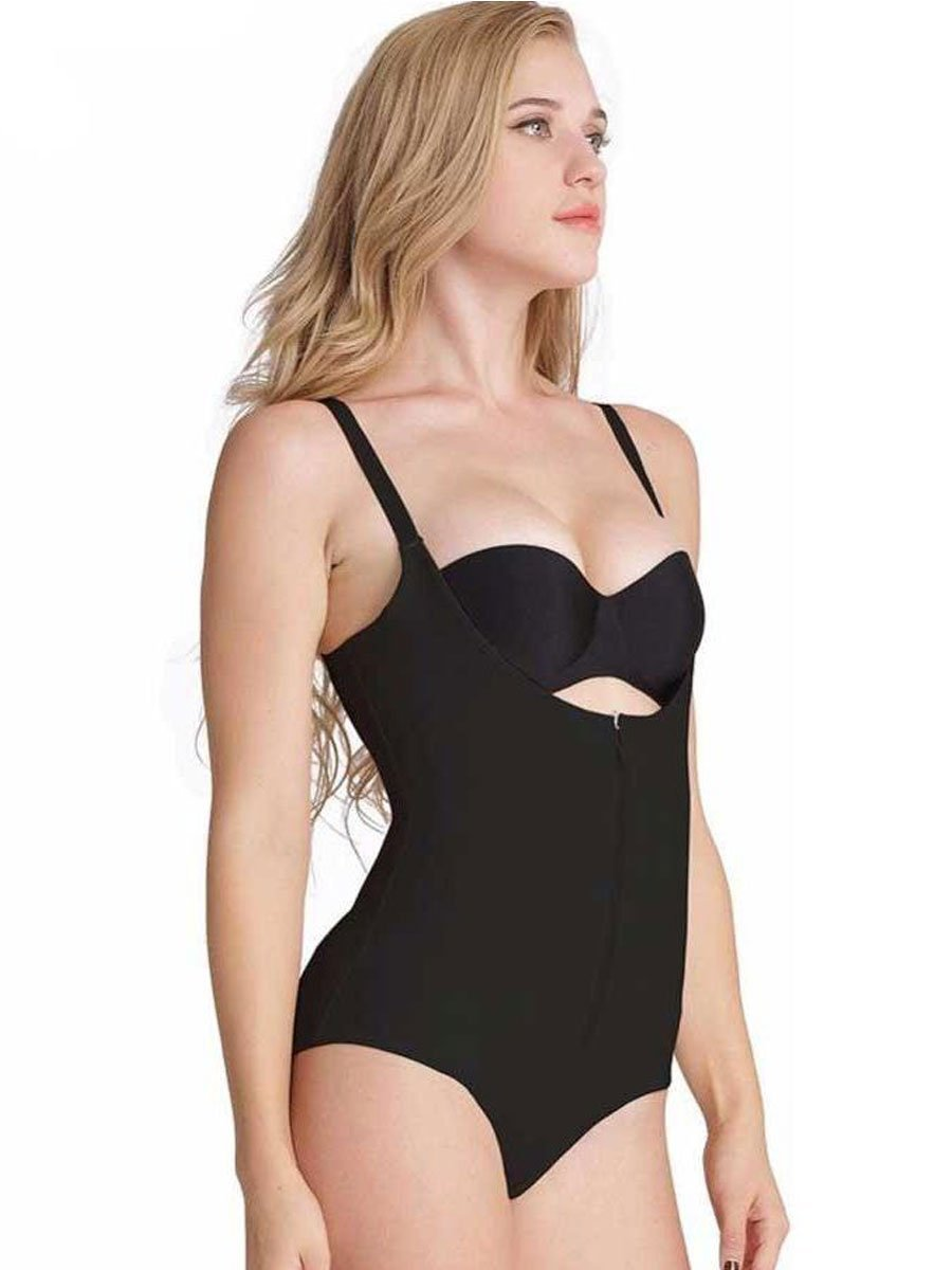 Firm Tummy Control Bodysuit body shaper S / Black Hourglass Gal