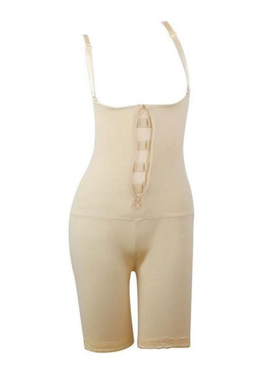 Full Body Shaper With Open-Rear-Butt-Lift Beige body shaper 2XL / Beige Hourglass Gal