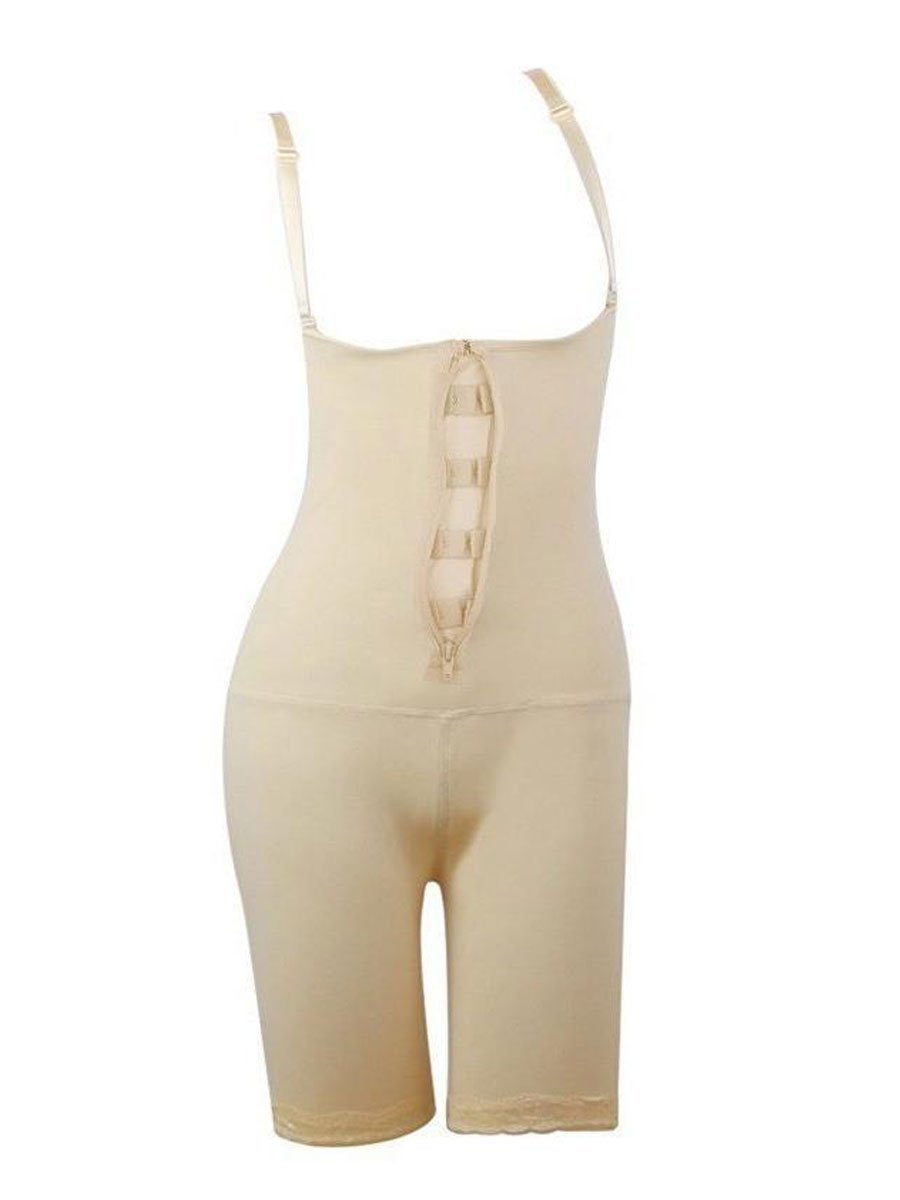 Full Body Shaper With Open-Rear-Butt-Lift Beige