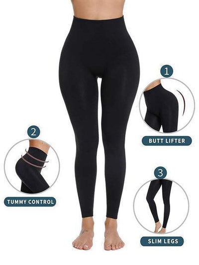 High-Waisted Hip Hugger Legging Black / 2XL/3XL Hourglass Gal