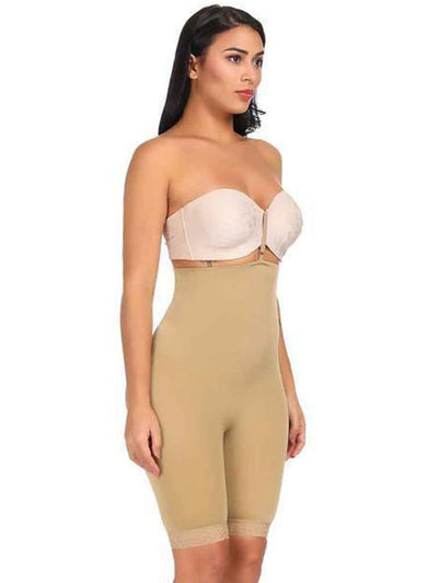 High-Waisted Shaper Short with Open-Rear Lift Butt Lifter Beige / 2XL/3XL Hourglass Gal