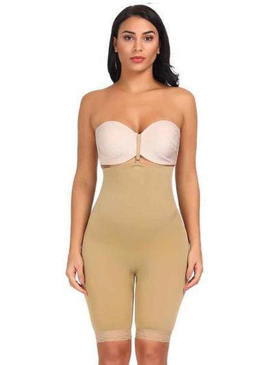 High-Waisted Shaper Short with Open-Rear Lift Butt Lifter Beige / L/XL Hourglass Gal