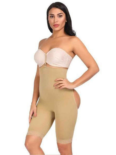 High-Waisted Shaper Short with Open-Rear Lift Butt Lifter Beige / S/M Hourglass Gal