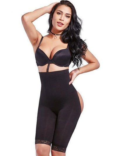 High-Waisted Shaper Short with Open-Rear Lift Butt Lifter Black / S/M Hourglass Gal