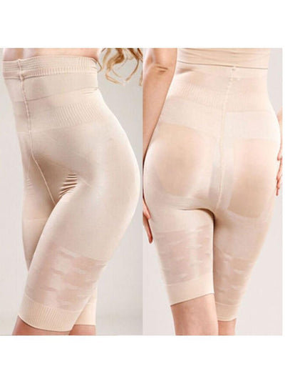 High-Waisted Shaping Mid-thigh Short Panty Beige / 2XL Hourglass Gal