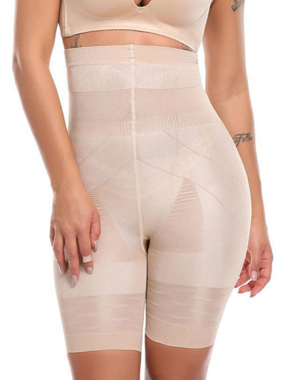 High-Waisted Shaping Mid-thigh Short Panty Beige / S Hourglass Gal