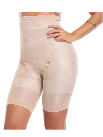 High-Waisted Shaping Mid-thigh Short Panty Beige / XL Hourglass Gal