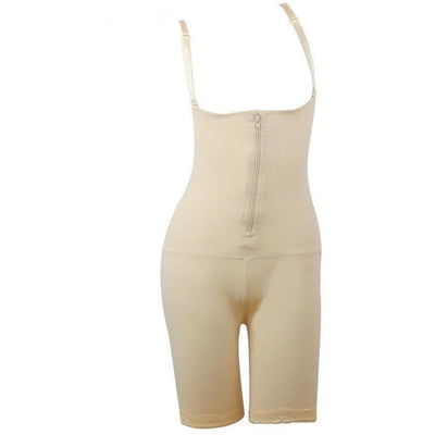 Full Body Shaper With Open-Rear-Butt-Lift Beige, body shaper, kiwiloverx