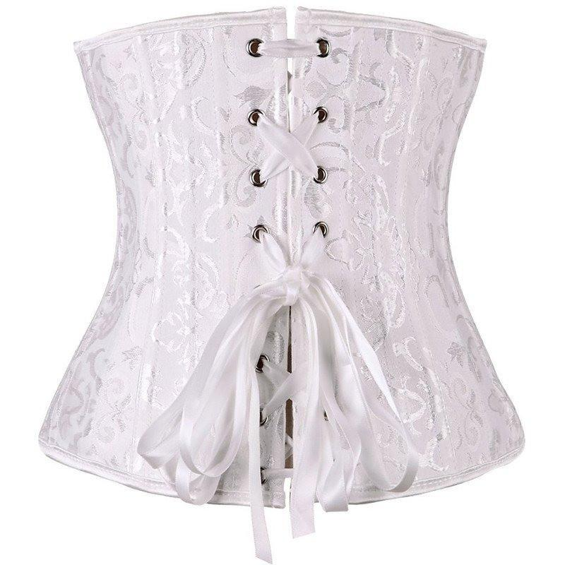 355711ac5b 26 Spiral Steel Boned Floral Corset Hourglass Gal