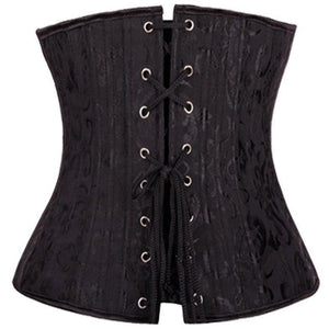 Underbust Corset Top,Black/White,S-6XL Hourglass Gal