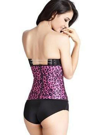 Latex Waist Trainer for Women Pink Leopard waist trainer Hourglass Gal