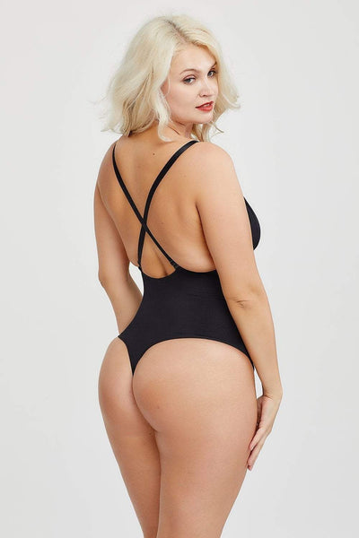 Low Back Thong Bodysuit Shapewear bodysuit shaper Hourglass Gal