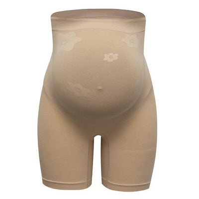 Maternity Shapewear for Dresses Women's Soft and Seamless Pregnancy Underwear High Waist Support Pregnancy Panties Shaper Shorts Beige / M / United States Hourglass Gal