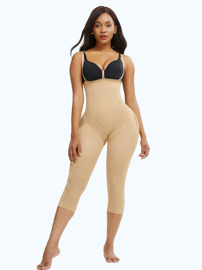 Seamless Invisible Butt Lifter Shaping Legging Shapewear 4XL / Beige Hourglass Gal