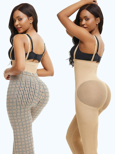 Seamless Invisible Butt Lifter Shaping Legging Shapewear L/XL / Beige Hourglass Gal