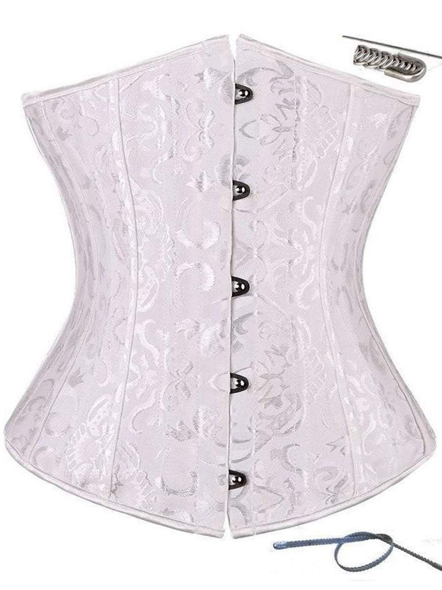 Underbust Corset Top,Black/White,S-6XL corset Hourglass Gal