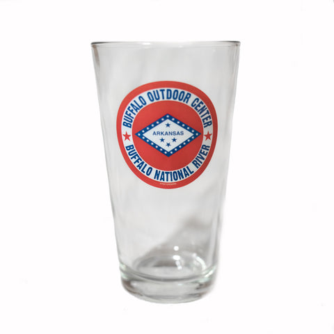 Pint Glass Arkansas Flag