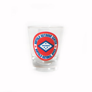 Shot Glass Arkansas Flag
