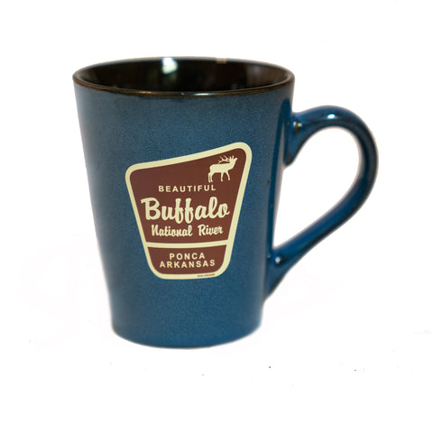 Beautiful Marker Elk Blue Serenity Camp Mug