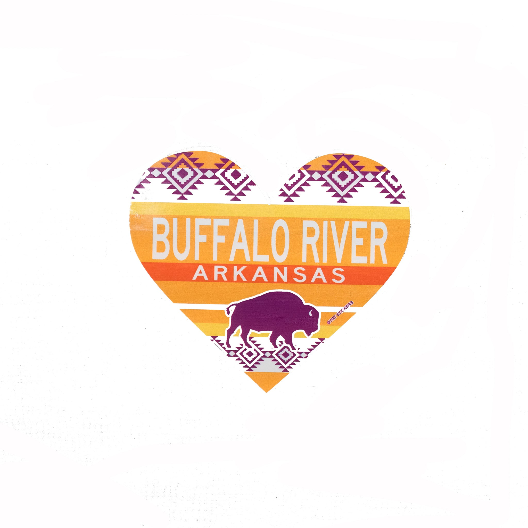 Shandy Heart Buffalo Sticker