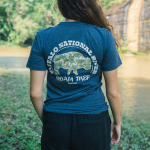 Nativ Buffalo River Roam Free Tee Navy