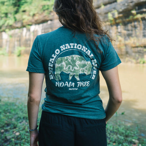 Nativ Buffalo River Roam Free Tee Green