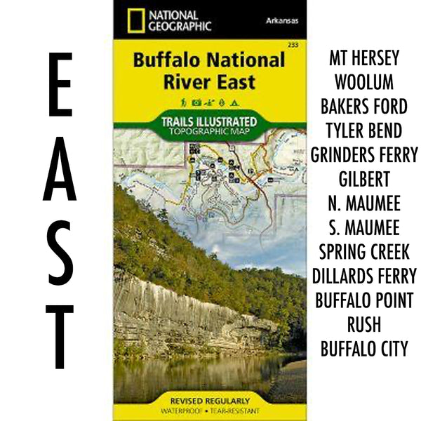 Buffalo National River East Trail Map