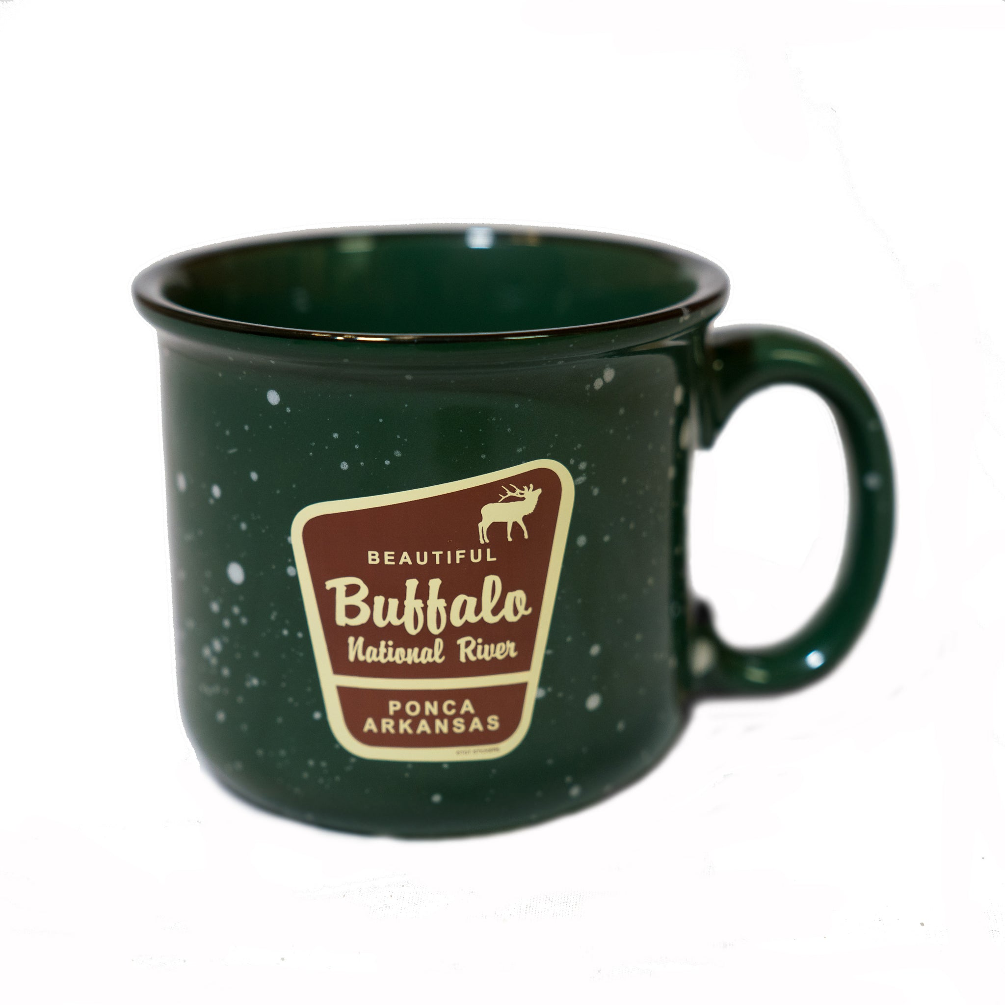 Beautiful Marker Elk Green Camp Mug