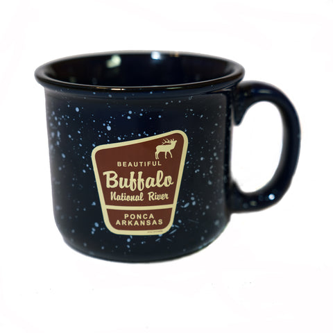 Beautiful Marker Elk Blue Camp Mug