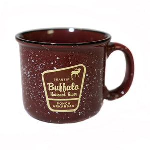 Beautiful Marker Elk Burgandy Camp Mug