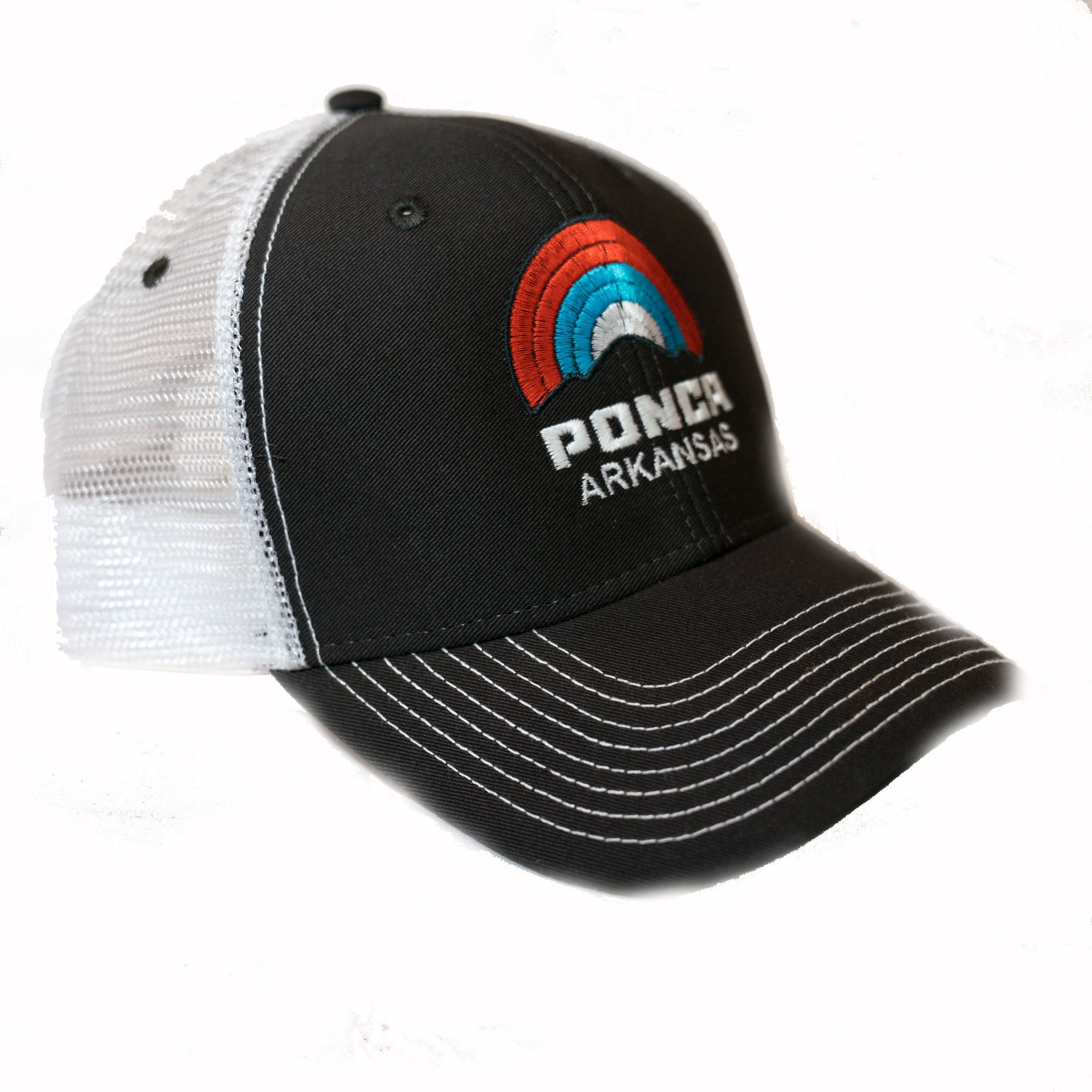 Sideline Ponca Rainbow Hat Dark Grey/White