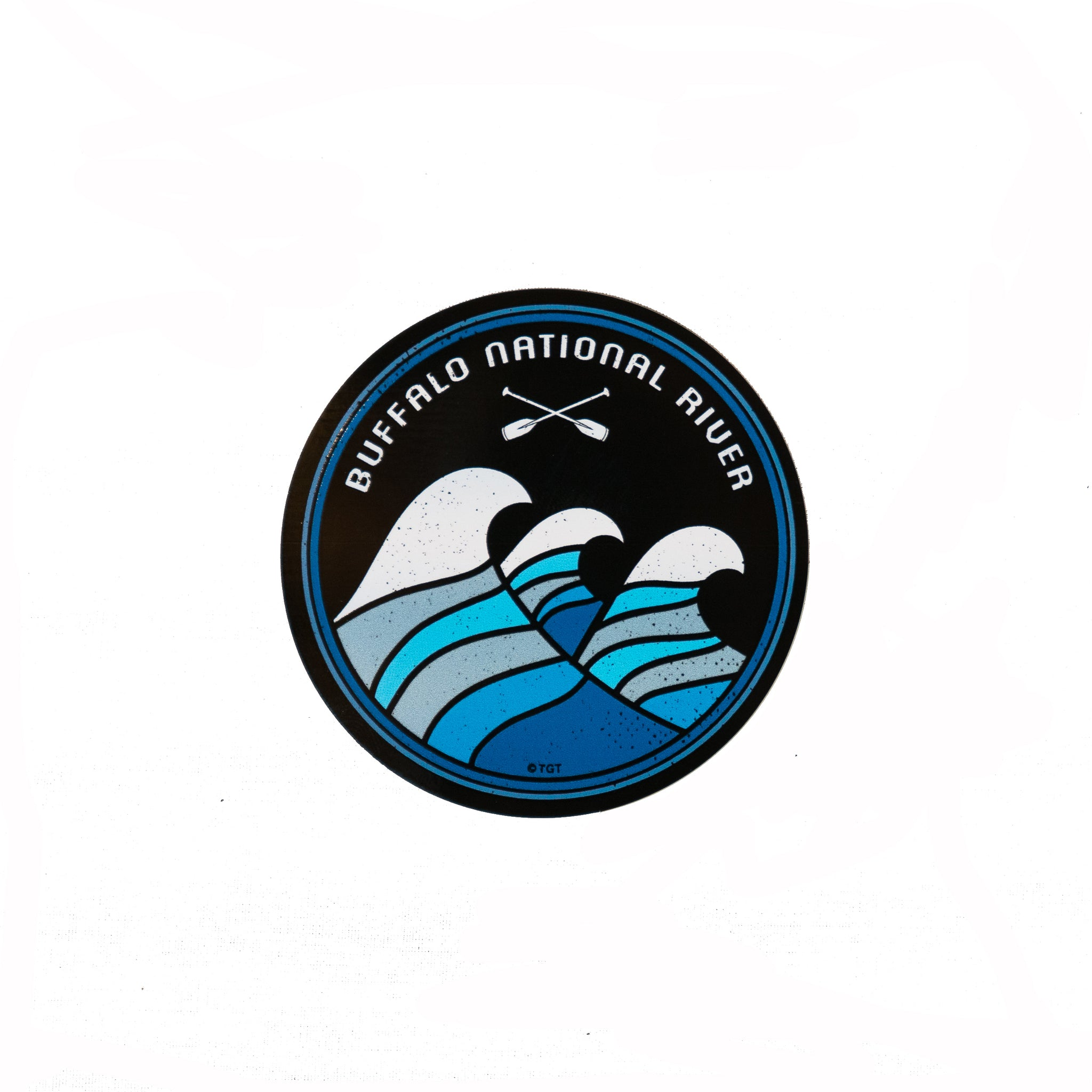 Crossed Paddles Wave Sticker