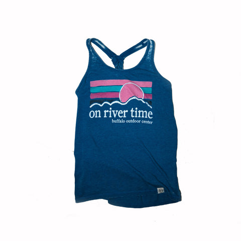 On River Time Tank Heather/Royal Blue