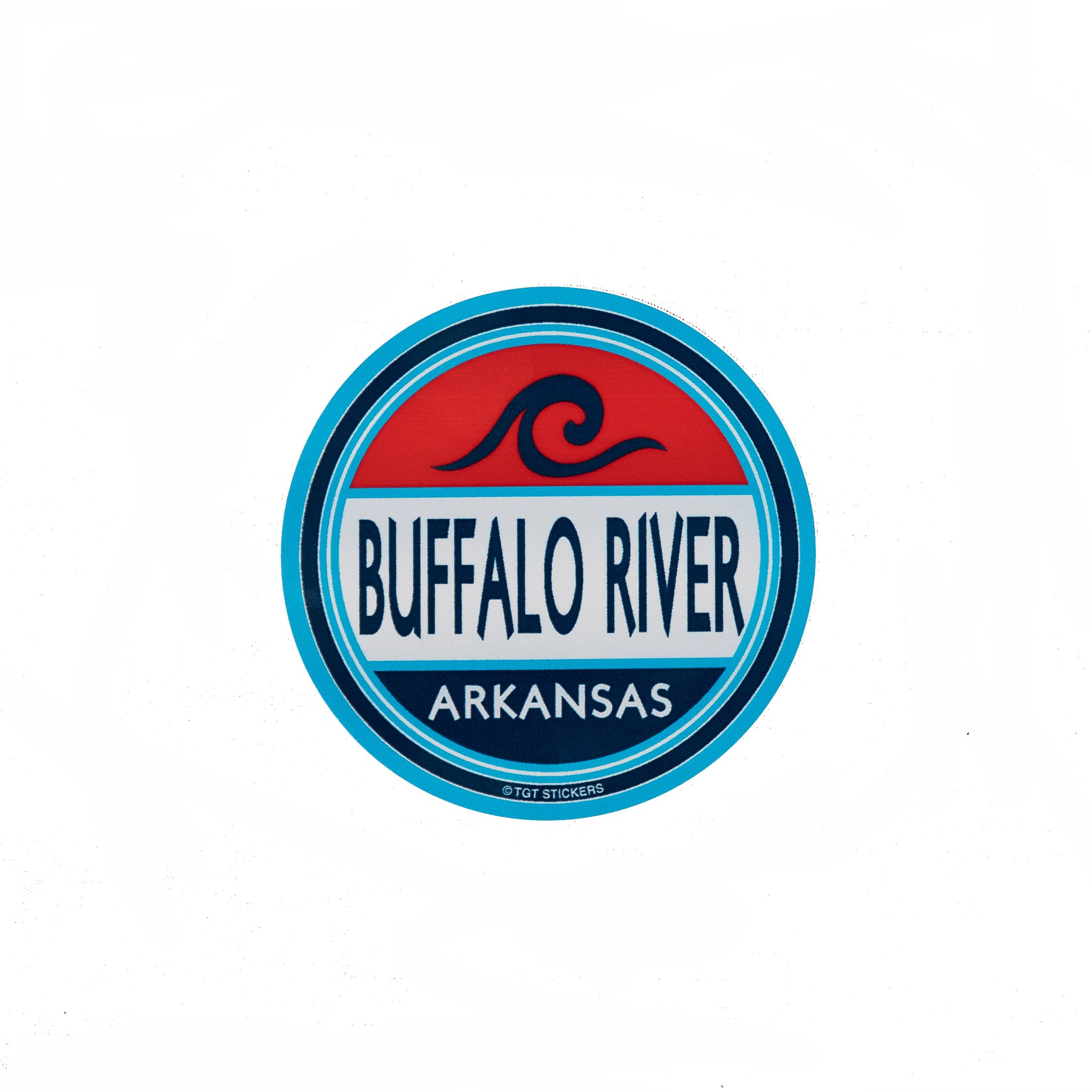 Buffalo River Wave Sticker
