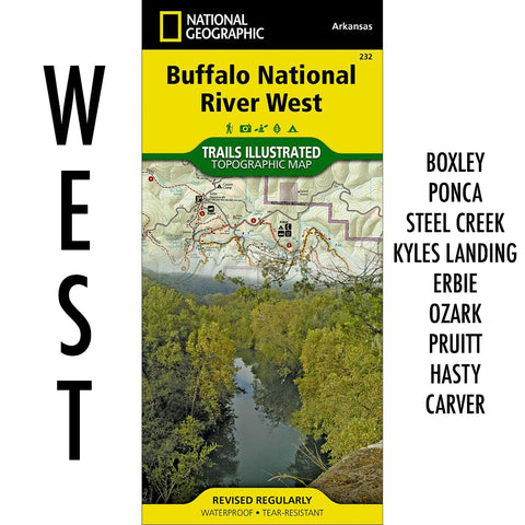 Buffalo National River West Trail Map