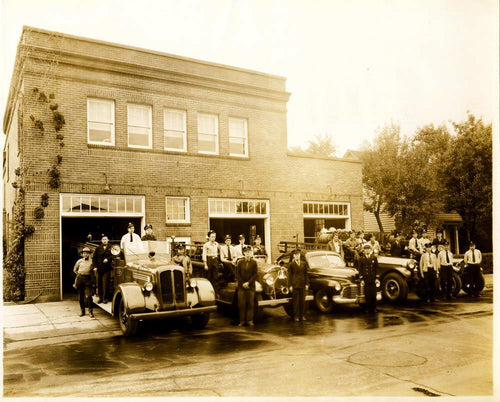 Vintage 1940's Bend Fire Department Historic Photo
