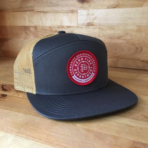Community Assistance Program Patch Trucker Hat - Grey + Gold