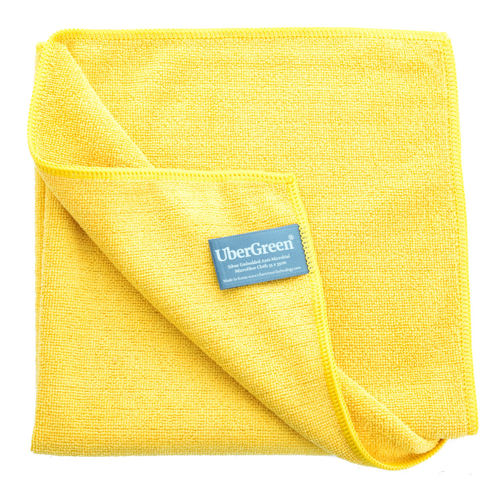 Ubergreen General Purpose Yellow Microfiber Cloth With Silver - Ubergreen Microfiber