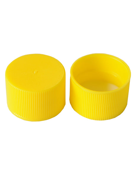 24-410 YELLOW POLYPROPLENE PRESSURE SEAL LINED LID