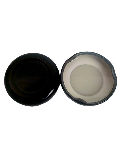 38-2000 BLACK/WHITE METAL BUTTON LINED PLASTISOL (C38-2000BWMBLP)