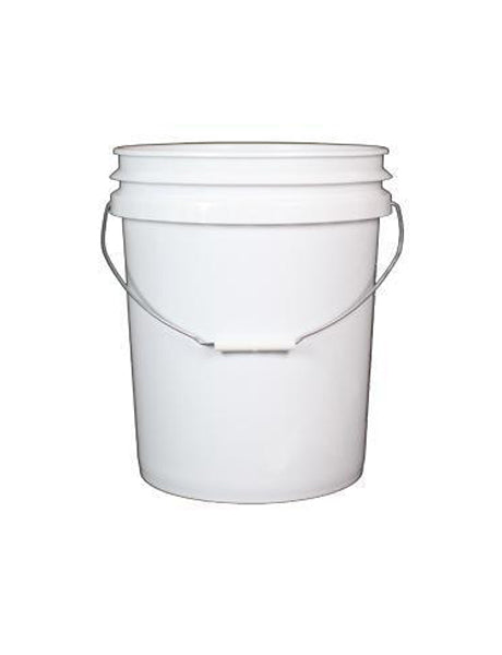 P5 GALLON WHITE PLASTIC FOOD GRADE PAIL