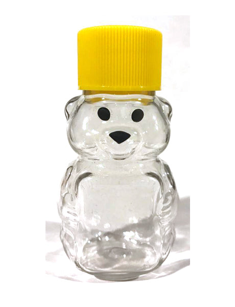 P2 OZ PET PANEL HONEY BEAR WITH LIDS