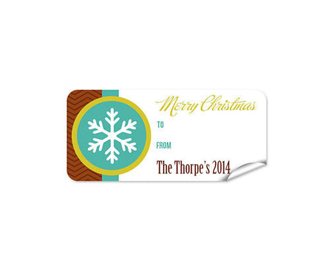 Snow Flake 27pk Labels Christmas