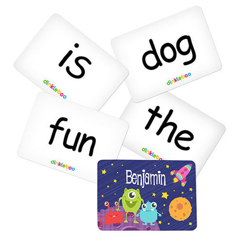 Space Memory Game Sight Words Pack 1