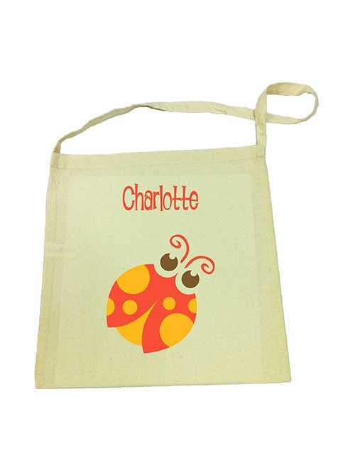 Calico Tote Bag - Red Beetle