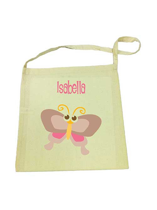 Calico Tote Bag - Brown Butterfly
