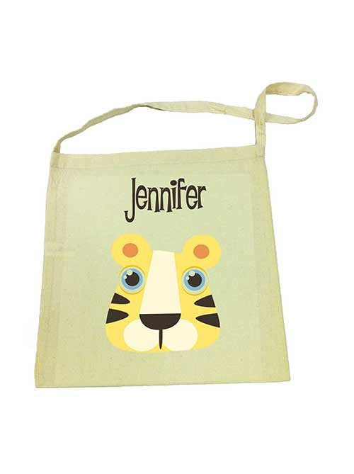 Calico Tote Bag - Yellow Tiger