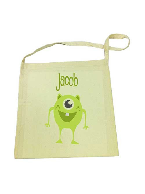 Calico Tote Bag - Green Alien