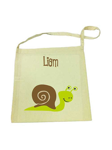 Library Bag - Green Snail